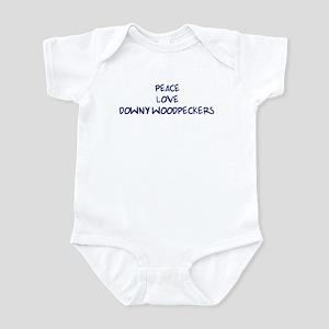 Peace, Love, Downy Woodpecker Infant Bodysuit
