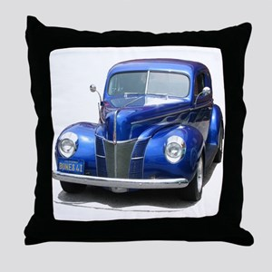 Helaine's Blue Ford Throw Pillow