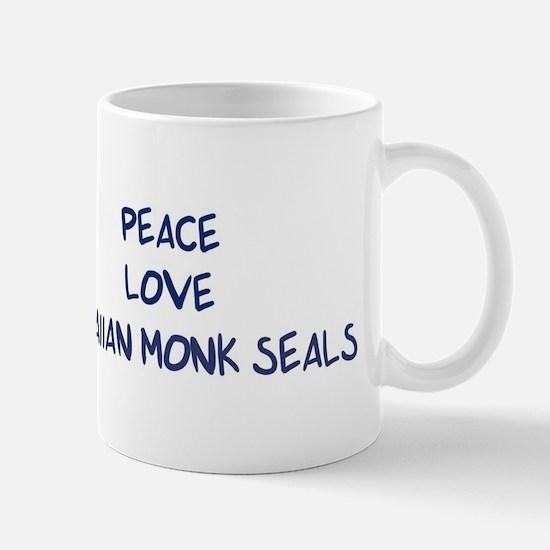 Peace, Love, Hawaiian Monk Se Mug