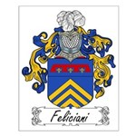 Feliciani Family Crest Small Poster