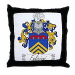 Feliciani Family Crest Throw Pillow