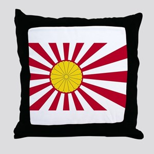Japanese Flag And Inperial Seal Throw Pillow