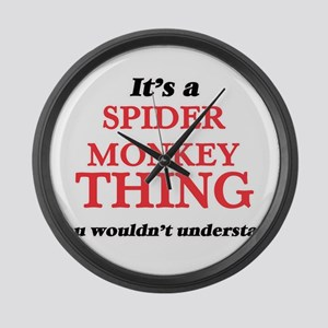 It's a Spider Monkey thing, y Large Wall Clock