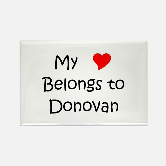 Cute Donovan Rectangle Magnet