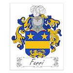 Ferri Family Crest Small Poster