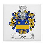 Ferri Family Crest Tile Coaster