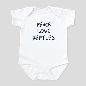 Peace, Love, Reptiles Infant Bodysuit