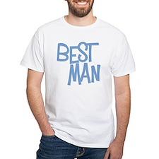 Hipster Best Man: Blue White T-Shirt