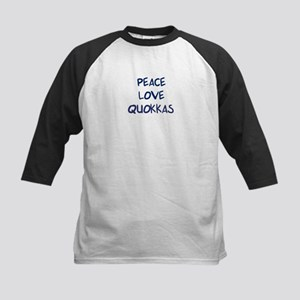 Peace, Love, Quokkas Kids Baseball Jersey