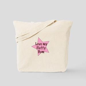 Love my fluffy bum - girl Tote Bag