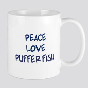 Peace, Love, Puffer Fish Mug