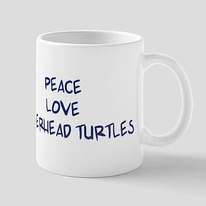 Peace, Love, Loggerhead Turtl Mug