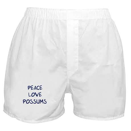 Peace, Love, Possums Boxer Shorts