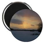 Winter Sunset 0239 Magnet