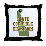 Delaware State Cornhole Champ Throw Pillow