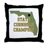 Florida State Cornhole Champi Throw Pillow