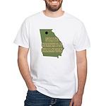 Georgia State Cornhole Champi White T-Shirt
