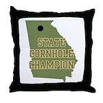 Georgia State Cornhole Champi Throw Pillow