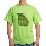 Georgia State Cornhole Champi Green T-Shirt