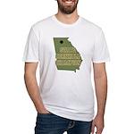 Georgia State Cornhole Champi Fitted T-Shirt