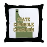 Idaho State Cornhole Champion Throw Pillow