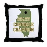 Illinois State Cornhole Champ Throw Pillow