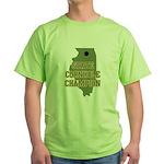 Illinois State Cornhole Champ Green T-Shirt