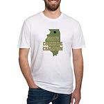Illinois State Cornhole Champ Fitted T-Shirt
