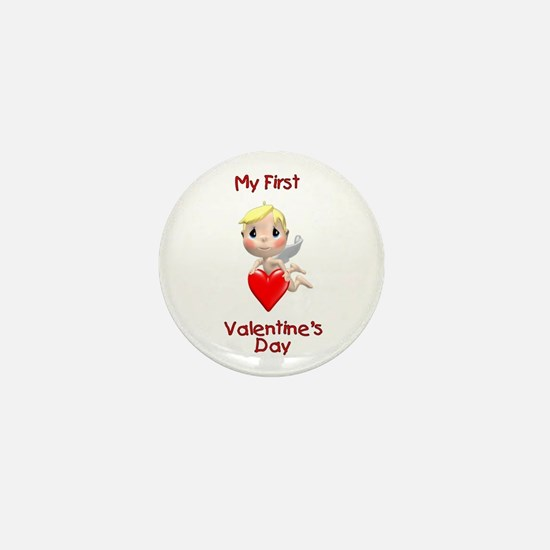 My First Valentines day (angel) Mini Button