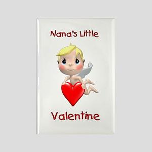 Nana's Little Valentine (angel) Rectangle Magnet