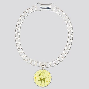 REINDEER WITH STAR BACKG Charm Bracelet, One Charm