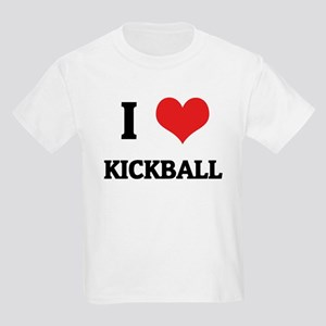 I Love Kickball Kids T-Shirt