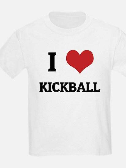 I Love Kickball Kids T-Shirt