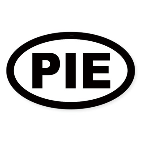 Pie Oval Sticker