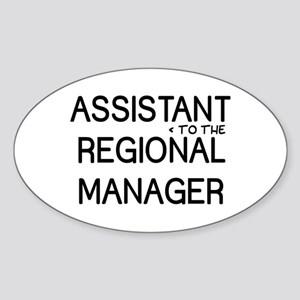 Assistant Manager Sticker (Oval)