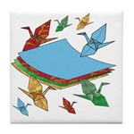 Origami Crane Tile Coaster
