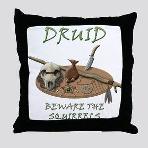 Druid - Beware the Squirrels Throw Pillow