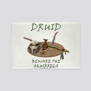 Druid - Beware the Squirrels Rectangle Magnet