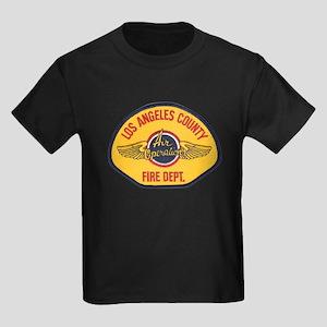 L.A. County Fire Air Ops Kids Dark T-Shirt