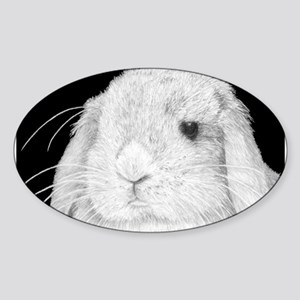Lop Rabbit Oval Sticker