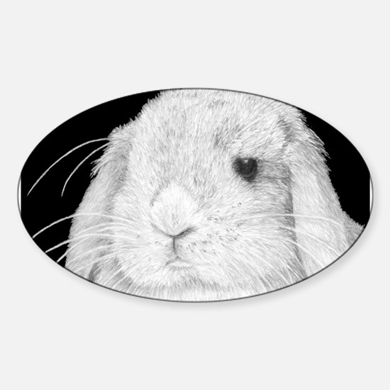 Lop Rabbit Oval Decal