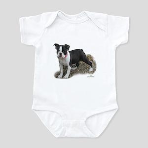 Boston Terrier Pup 1 Infant Creeper
