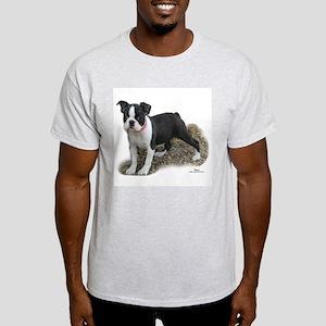 Boston Terrier Pup 1 Ash Grey T-Shirt