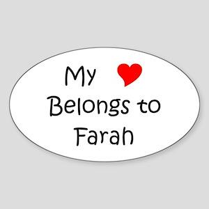 720ca5f2d85 Farah Name Oval Stickers - CafePress