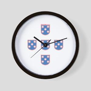 Portuguese Shields | Wall Clock