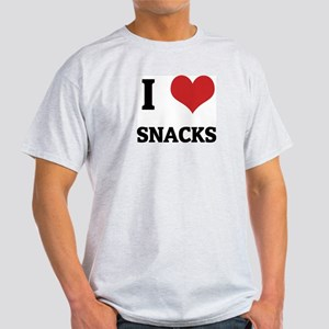 I Love Snacks Ash Grey T-Shirt