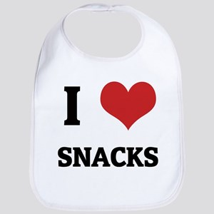 I Love Snacks Bib