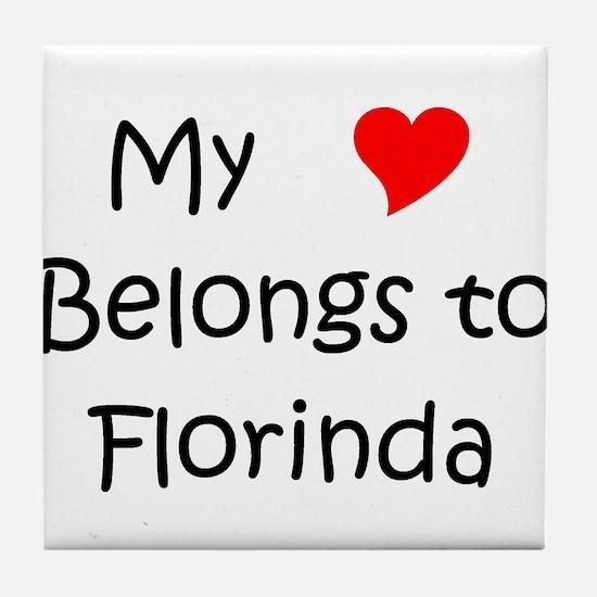 Cute My heart belongs roseanne Tile Coaster