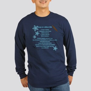 Recipe for a Military Wife Long Sleeve Dark T-Shir