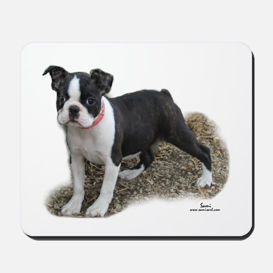 Boston Terrier Pup 1 Mousepad